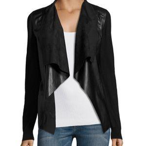 Zara Faux Leather Cardigan